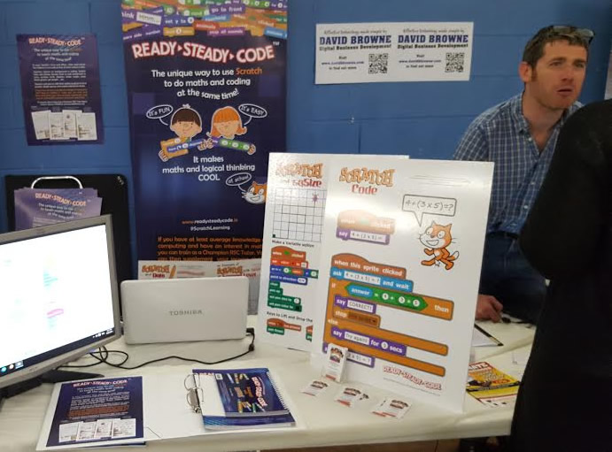 David Browne at the Ready Steady Code Stand